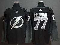 Mens Nhl Tampa Bay Lightning #77 Victor Hedman Black Alternate Breakaway Player Jersey