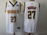 Mens Nba Nike Denver Nuggets #27 Jamal Murray White Association Edition Swingman Jersey