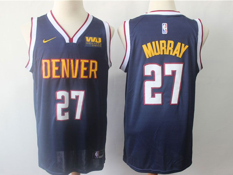 Mens Nba Nike Denver Nuggets #27 Jamal Murray Dark Blue Icon Edition Jersey