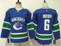 Womens Youth Nhl Vancouver Canucks #6 Brock Boeser Blue Adidas Jersey