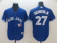 Mens Mlb Toronto Blue Jays #27 Guerrero Jr. Blue Cool Base Jersey