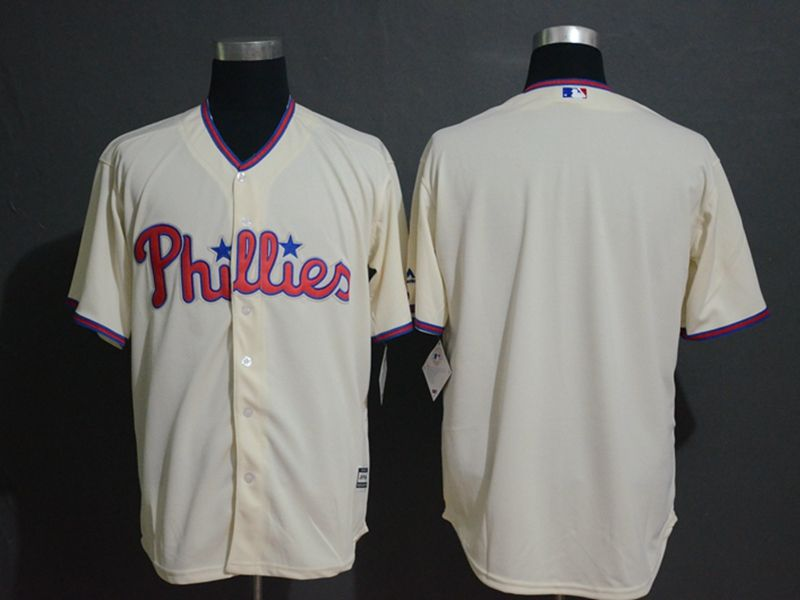 Mens Mlb Philadephia Phillies Blank Alternate Cream Cool Base Jersey