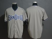 Mens Majestic San Diego Padres Blank Gray Cool Base Current Player Jersey