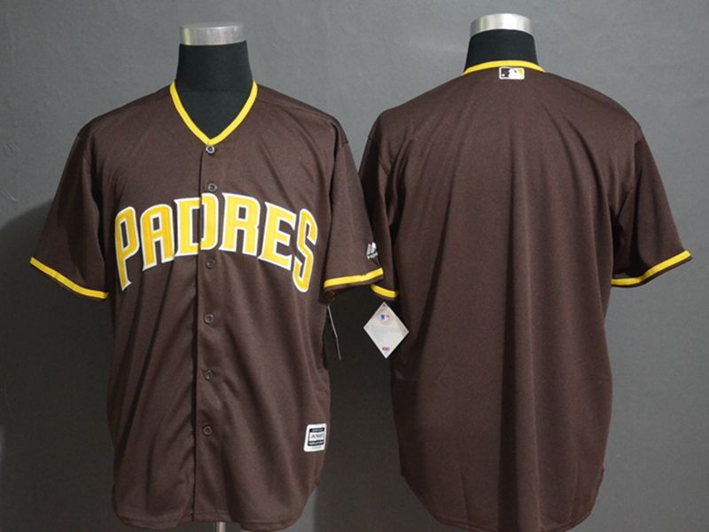 Mens Majestic San Diego Padres Blank Brown Cool Base Current Player Jersey