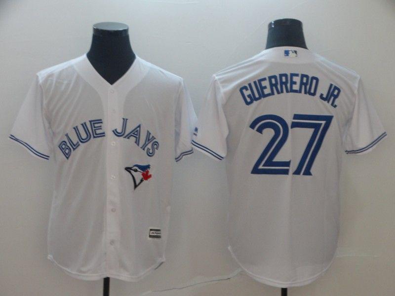 Mens Mlb Toronto Blue Jays #27 Guerrero Jr. White Cool Base Jersey