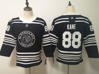 Women Youth Nhl Chicago Blackhawks #88 Patrick Kane Black 2019 Winter Classic Adidas Jersey
