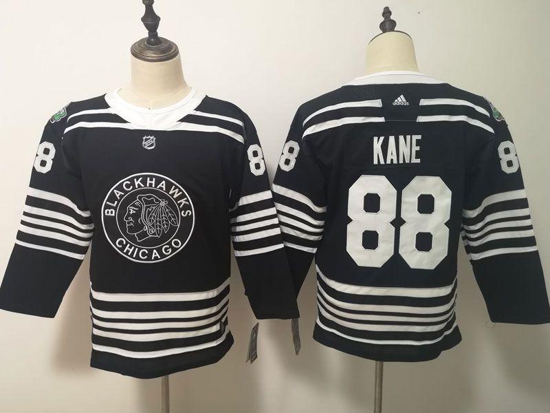 Women Youth Nhl Chicago Blackhawks #88 Patrick Kane Black 2019 Winter Classic Adidas Jersey