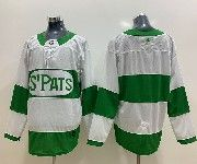 Mens Nhl Toronto Maple Leafs Blank Adidas St. Pats Adidas Authentic White Jersey