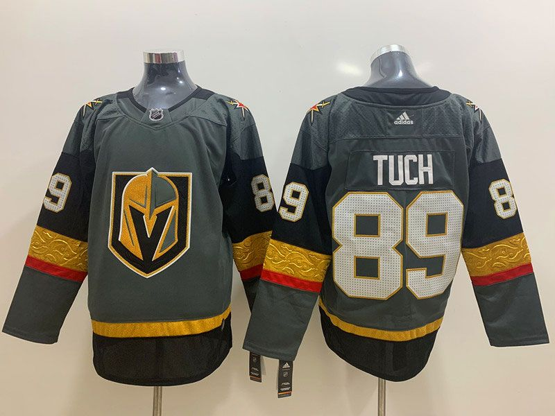 Mens Nhl Vegas Golden Knights #89 Alex Tuch Gray Adidas Jersey