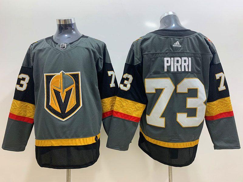 Mens Nhl Vegas Golden Knights #73 Brandon Pirri Gray Adidas Jersey