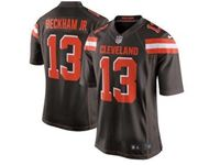 Mens Nfl Cleveland Browns #13 Odell Beckham Jr Brown Game Nike Jersey