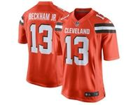 Mens Nfl Cleveland Browns #13 Odell Beckham Jr Orange Game Nike Jersey