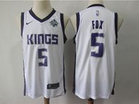 Mens Nba Sacramento Kings #5 De'aaron Fox White Swingman Nike Jersey