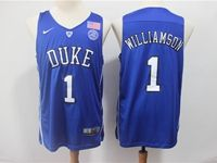 Mens Ncaa Nba Duke Blue Devils #1 Williamson Blue Nike Jersey