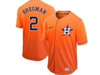 Mens Mlb Houston Astros #2 Alex Bregman Orange Nike Drift Cool Base Jersey