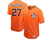 Mens Mlb Houston Astros #27 Jose Altuve Orange Nike Drift Cool Base Jersey