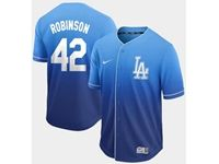 Mens Mlb Los Angeles Dodgers #42 Ackie Robinson Blue Nike Drift Cool Base Jersey