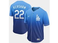Mens Mlb Los Angeles Dodgers #22 Clayton Kershaw Blue Nike Drift Cool Base Jersey