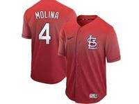 Mens Mlb St.louis Cardinals #4 Yadier Molina Red Nike Drift Cool Base Jersey
