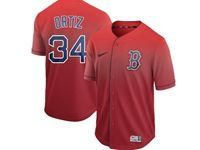 Mens Mlb Boston Red Sox #34 David Ortiz Red Nike Drift Cool Base Jersey