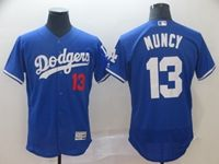 Mens Mlb Los Angeles Dodgers #13 Max Muncy Blue Flex Base Jersey