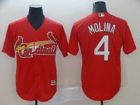Mens 2019 Majestic St.louis Cardinals #4 Yadier Molina Red Cool Base Jersey