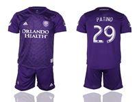 Mens 19-20 Soccer Orlando City Sc Club #29 Patino Purple Home Short Sleeve Suit Jersey