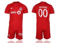 Mens 19-20 Soccer Club Toronto Fc ( Custom Made ) Red Home Short Sleeve Suit Jersey