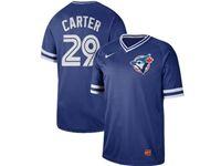 Mens Mlb Toronto Blue Jays #29 Joe Carter Blue Cooperstown Collection Legend V Neck Cool Base Nike Jersey