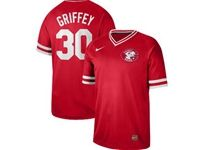 Mens Mlb Cincinnati Reds #30 Ken Griffey Red Cooperstown Collection Legend V Neck Cool Base Nike Jersey