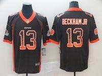 Mens Nfl Cleveland Browns #13 Odell Beckham Jr Brown Drift Fashion Vapor Untouchable Limited Jersey
