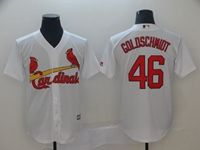 Mens 2019 Majestic St. Louis Cardinals #46 Paul Goldschmidt White Cool Base Jersey