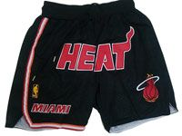 Nba Nike Miami Heat Black Nike Just Do Pocket Shorts