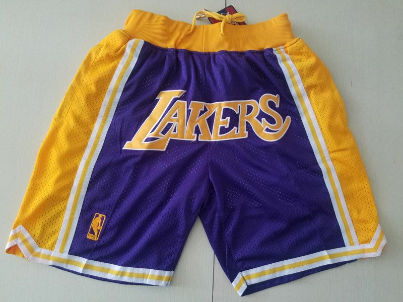 Mens Nba Los Angeles Lakers Pruple Nike Hardwood Classics Pocket Shorts
