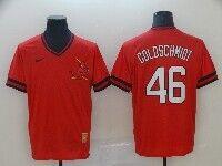 Mens Mlb St. Louis Cardinals #46 Paul Goldschmidt Red Cooperstown Collection Legend V Neck Cool Base Nike Jersey