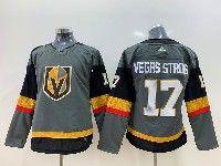 Women Vegas Golden Knights #17 Vegas Stron Gray Adidas Jersey