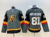 Women Vegas Golden Knights #81 Jonathan Marchessault Gray Adidas Jersey