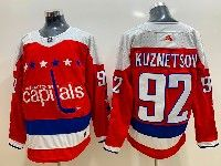 Mens Nhl Washington Capitals #92 Evgeny Kuznetsov Red Alternate Adidas Jersey