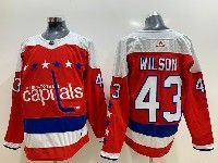 Mens Nhl Washington Capitals #43 Tom Wilson Red Alternate Adidas Jersey