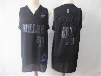Mens Nba Dallas Mavericks #41 Dirk Nowitzki 2019 New Black Mvp Honorary Edition Jersey