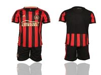 Mens 19-20 Soccer Atlanta United Club (current Player) Red And Black Stripe Home Short Sleeve Suit Jersey