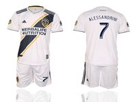Mens 19-20 Soccer Galaxy Club #7 Romain Alessandrini White Home Short Sleeve Suit Jersey