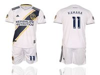 Mens 19-20 Soccer Galaxy Club #11 Ola Kamara White Home Short Sleeve Suit Jersey