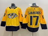 Mens Nhl Nashville Predators #17 Wayne Simmonds Gold Home Adidas Jersey