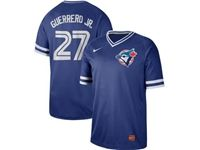 Mens Mlb Toronto Blue Jays #27 Guerrero Jr. Blue Cooperstown Collection Legend V Neck Cool Base Nike Jersey