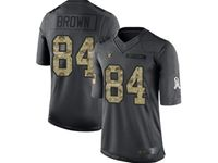 Mens Women Nfl Las Vegas Raiders #84 Antonio Brown Black Camo Number Salute To Service Limited Jersey