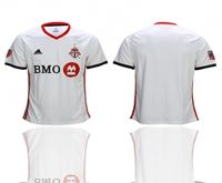 Mens 19-20 Soccer Toronto Club Blank White Away Short Sleeve Thailand Jersey