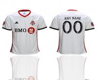 Mens 19-20 Soccer Toronto Club (custom Made) White Away Short Sleeve Thailand Jersey