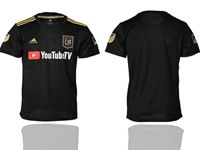 Mens 19-20 Soccer Los Angeles Fc Club Blank Black Home Short Sleeve Thailand Jersey