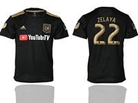 Mens 19-20 Soccer Los Angeles Fc Club #22 Rodolfo Zelaya Black Home Short Sleeve Thailand Jersey
